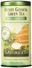 Honey Ginseng Green Tea - 40071 - The Republic of Tea  - Tin 50 Natural Tea Bags