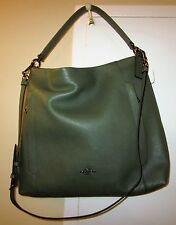 COACH F34311 PEBBLE LEATHER LARGE SCOUT HOBO CROSSBODY OLIVE GREEN NEW