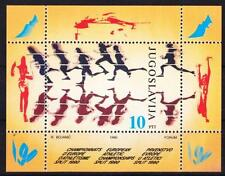 Jugoslawien Block 37 **, Sport Leichtathletik Athletic 1990, MNH