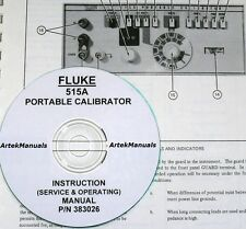 FLUKE 515A Portable Calibrator, Manual, Operating & Service with Schematics