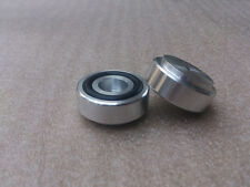 4x (silver)Aluminum feet for amplifier /speaker (with Rubber ring) D:30mm H:13mm
