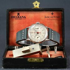 Serviced Classy 1950's DELBANA Swiss Vintage Chronograph Watch Landeron Cal. 48