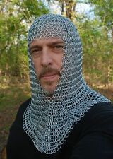 CHRISTMAS GIFTS BUTTED ALUMINIUM CHAIN MAIL COIF, CHAINMAIL HOOD