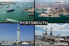 SOUVENIR FRIDGE MAGNET of PORTSMOUTH ENGLAND