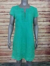 Boden linen shift dress womens size 12 green