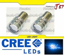 CREE LED Miniature 5W 1157 S25 BA15D Blue 10000K Two Bulbs Replacement Light