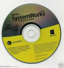 Norton System Works Professional Edition 2002 CD ROM PC