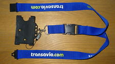 TRANSAVIA AIRLINE LANYARD & PASS, MEM LOOP HIGHLY RARE