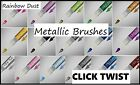 Rainbow Dust Click Twist Metallic Paint Brush Edible Cake Icin Food Colour Pen