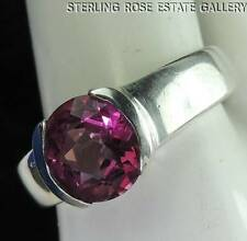 PNIK SPINEL Sterling Silver 0.925 Estate SOLITAIRE ENGAGEMENT RING size 7.5