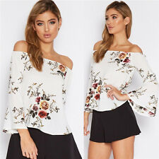 Summer Womens Ladies Long Sleeve Fashion Shirt Loose Casual Blouse Tops T-Shirt