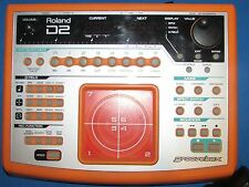 RARE ROLAND D2 ROLAND GROOVEBOX W/ ROLAND AC ADAPTER TESTED WORKS VGC