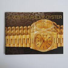 ROLEX BOOKLET  IL VOSTRO  ROLEX OYSTER   LIBRETTO ITALIANO  anno 1998