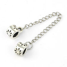 charm it safety chain love European Flower bead Fit charms bracelets lot