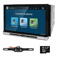 "Android 4-Core 1024*600 7"" 2Din In Dash Car DVD Radio Player WiFi TV OBD GPS CAM"