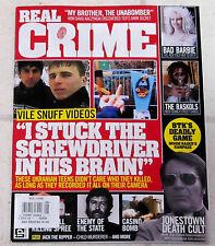 REAL CRIME Issue No 8 UKRANIAN TEENS Jim Jones CULT Bad Barbie BTK's DEADLY GAME