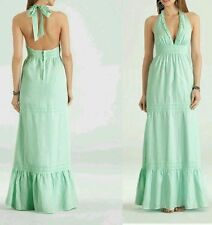 GUESS BY MARCIANO HOLLYS LINEN MAXI LONG HALTER SUMMER DRESS