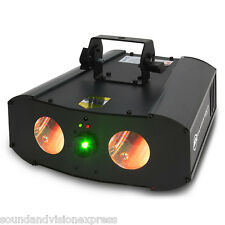 American DJ Galaxian Gem IR 2-FX-IN-1 Dual RGBW LED Moonflower Light + Laser ADJ