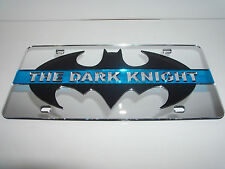 Batman, The Dark Night, Blue Strip Mirror Laser License Plate Black/Pink  NEW!!
