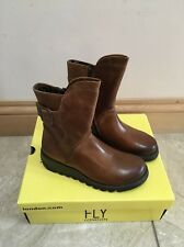 Fly London Sien Boot In Camel Size 4/37