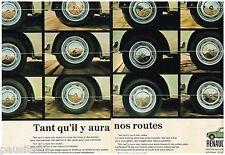 PUBLICITE ADVERTISING 105  1970  RENAULT 16 (2p) les roues & pneus