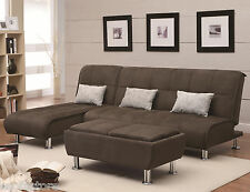 Large Sleeper Sectional Sofa Living Room Furniture Sofa Bed & Chaise Sofa Set