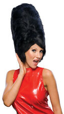 Womens Black Beehive Wig Tall Costume Bee Hive Hair Conical Amy Winehouse Parody