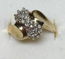 1/2 Ct Natural (REAL) DIAMOND Cluster RING Solid 14k yellow GOLD