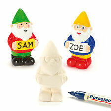 Paint Your Own Garden Gnome Ceramic Gnome. Unique Personalised Gift