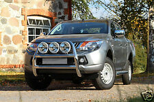 PARE BUFFLE MITSUBISHI L200 15- INOX, POLI MAIN, 76mm, NON HOMOLOGUE