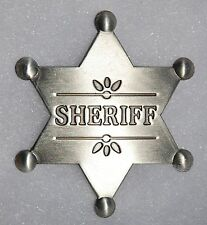 US Marshal Sheriff Old West Replica Lawman Six Point Badge Deputy Police  PH011