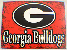 Georgia Bulldogs Ga Distressed Metal Sign Wall Plaque New #82292