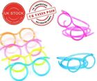 Kids Crazy Straw Glasses Clear Drinking Games Novelty Tube Party Bag Filler Gift