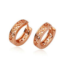 Gorgeous 9K Rose Gold Filled Openwork Womens Hoop Earrings,Z4374