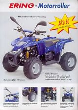 Ering ATV 50 Prospekt 2003 brochure broschyr brosjyre All Terrain Vehicle