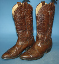 MENS VTG NOCONA BROWN LEATHER TALL UNDERSLUNG WESTERN/COWBOY BOOTS sz 7 1/2 D
