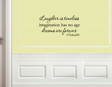 Laughter is timeless, Tinkerbell Vinyl wall decals quotes sayings words #1428