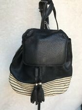Rebecca Minkoff *MANSFIELD* Backpack Sling Purse Black Leather