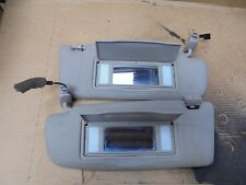 AUDI A4 1998 PAIR OF GREY SUN VISORS WITH 2 MIRRORS AND LIGHTS