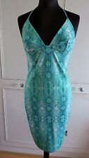 Just Cavalli Roberto Cavalli snakeskin print beachwear bustier dress UK12EU40US8