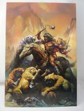 **GENUINE HAND SIGNED KEN KELLY FANTASY ARTIST 'LION'S DEN' & COA**