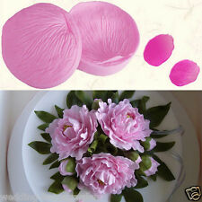 Lovely Petal Leaf Print Textured Flower Cake Baking Mould Decoration Silicone