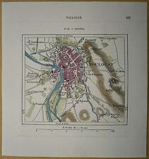 1877 Perron map TOULOUSE, FRANCE (#39)