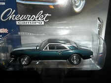 JOHNNY LIGHTNING 1/64 2016 MUSCLE CARS RELEASE 2 C TURQUOISE 1967 CHEVY CAMARO