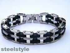 LARGE BIKE CHAIN STAINLESS STEEL 316L MEN'S JEWELLERY BRACELET R2