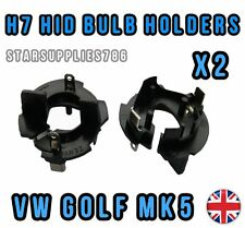 2x H7 VW GOLF MK5 HID HEADLIGHT CONVERSION KIT BULB HOLDERS ADAPTORS 477