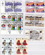 UNO Wien - Jahrg.  1985   -  4er Blocks o - KW  25,-- €  ( 31257 )