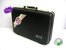 New Plastic Hard Attache Case Briefcase 3 Locks Brief Case Gold Inside