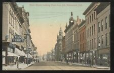 Postcard RICHMOND IN  Main St N & N Shoe Store & Business Storefronts 1907