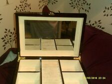 SHINY DARK PURPLE LARGE JEWELERY BOX, WITH 2 DRAWERS AND RING SECTION